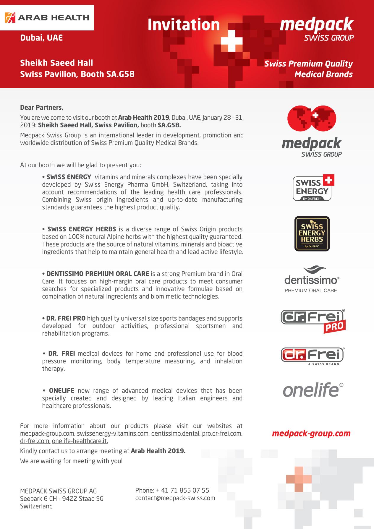 Invitation to Arab Health 2019
