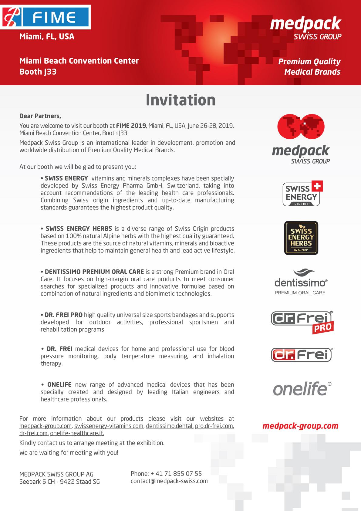 Invitation to FIME 2019